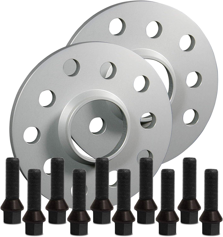 SilverLine Spurverbreiterung 30mm mit Schrauben schwarz 5x112 57,1mm 15mm 12119E/_71/_M1415KU43Q