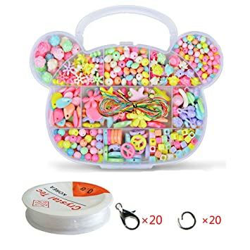 f319376201a6 WCOCOW Colores Mezclados Kit Abalorios Cuentas Dados con Letras para hacer  pulseras collares (Bear Shape)  Amazon.es  Juguetes y juegos