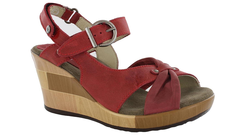 Wolky Womens Rio Leather Sandals 39 EU Marrón - 930 Braun Craquelé Leder