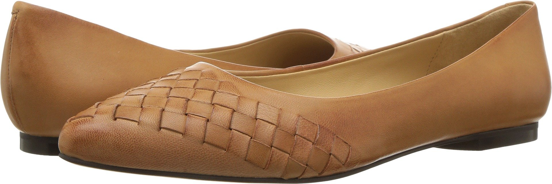 Trotters Women's Estee Woven Tan Woven Leather 12 WW US by Trotters