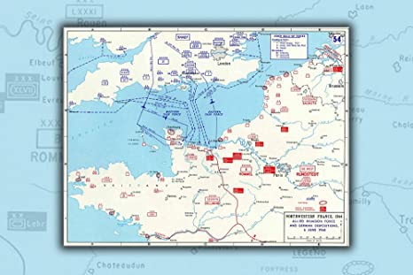 Amazon Com 20x30 Poster D Day Map Assault Routes Into Normandy