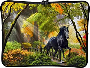 Black in The Forest 12 Inch Protective Laptop Sleeve Ultrabook Notebook Carrying Case Compatible with MacBook Pro MacBook Air Tablet Briefcase Bag