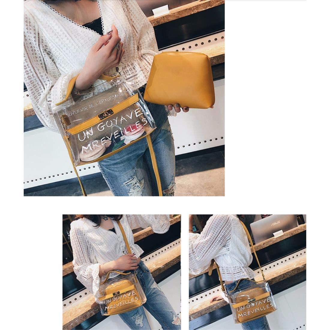 Female bag jelly package transparent bag new tide Messenger bag summer shoulder bag double bag