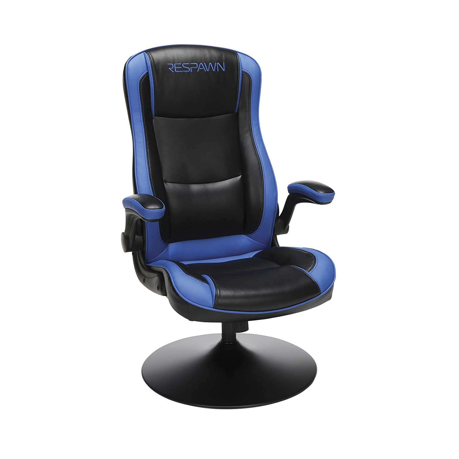 RESPAWN-800 Racing Style Gaming Rocker Chair, Rocking Gaming Chair, in Blue (RSP-800-BLK-BLU)