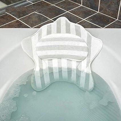 Cuscino rilassante Cuscino per il bagno in PVC Cuscino per il supporto del collo Cuscino per il rilassamento della vasca da bagno Spa
