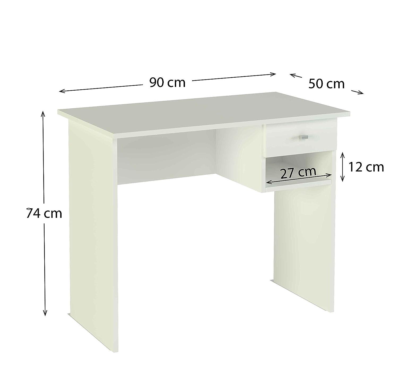 Meka-Block K-9453B 1 cassetto Colore Bianco. 90 cm di Larghezza Scrivania