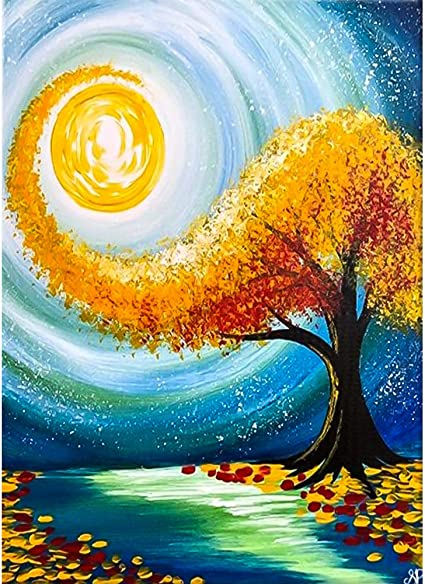 5D Diamond Painting Kits for Adults DIY Diamond Pictures Gift and Relaxation Canvas 12 X 16 Inch 5D Round Full Drill Art Crafts for Home Wall Decor