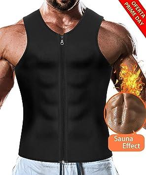 LaLaAreal Faja Reductora Adelgazante Hombre Camiseta Termica Sauna Neopreno para Deport Fiteness: Amazon.es: Deportes y aire libre