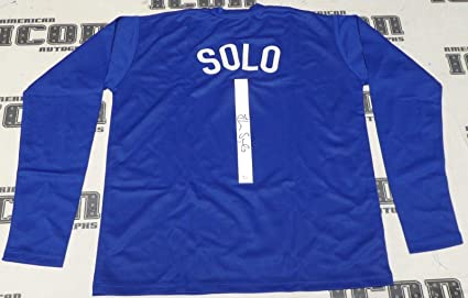 770996e7816 Signed Hope Solo Jersey - USA Custom COA World Cup   Olympics - JSA  Certified -