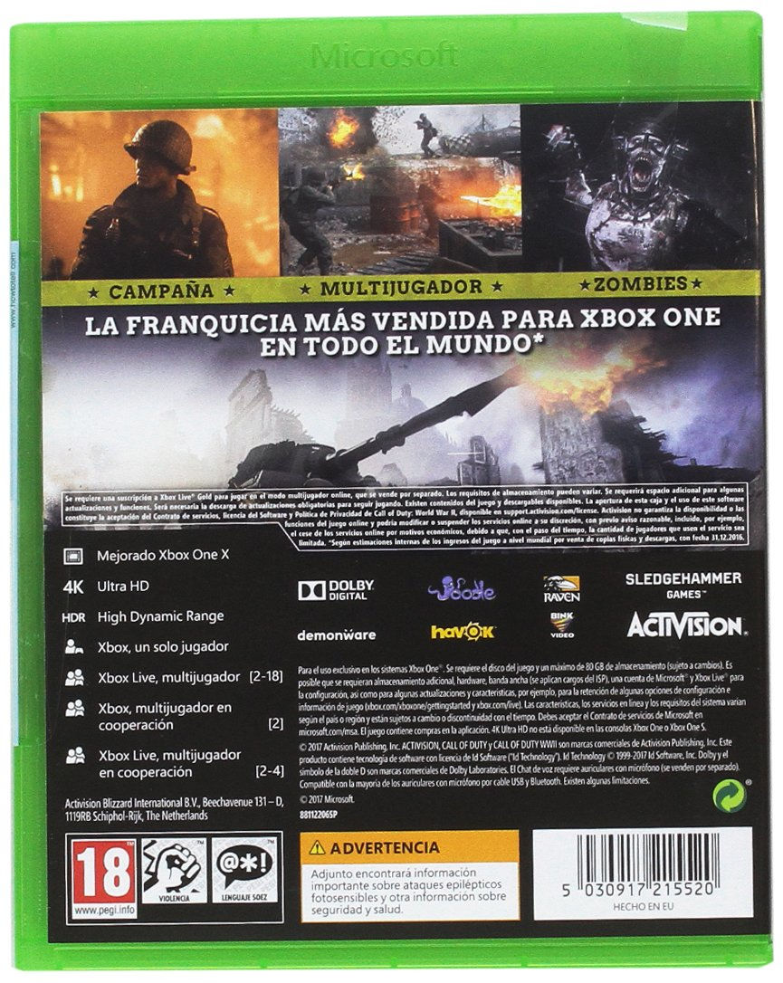 Call Of Duty WWII: Xbox One: Amazon.es: Videojuegos