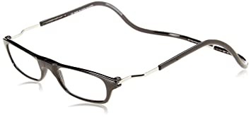 b01f53a9e23d Image Unavailable. Image not available for. Color  CliC Magnetic Closure Reading  Glasses XXL with Adjustable Headband Black 1.50
