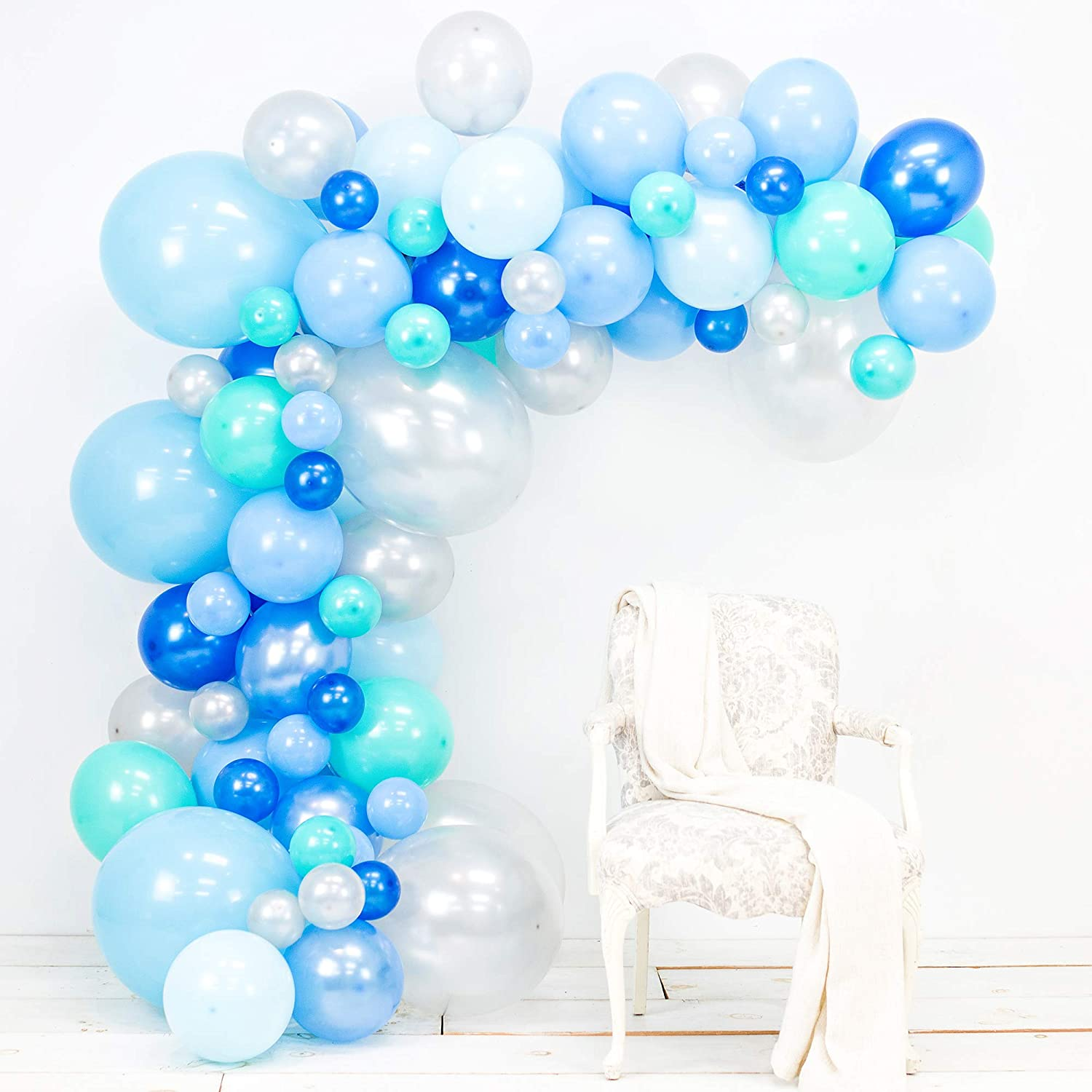 142X Blue Balloons+Balloon Arch Kit Set Party Baloons Wedding Garland Home Decor