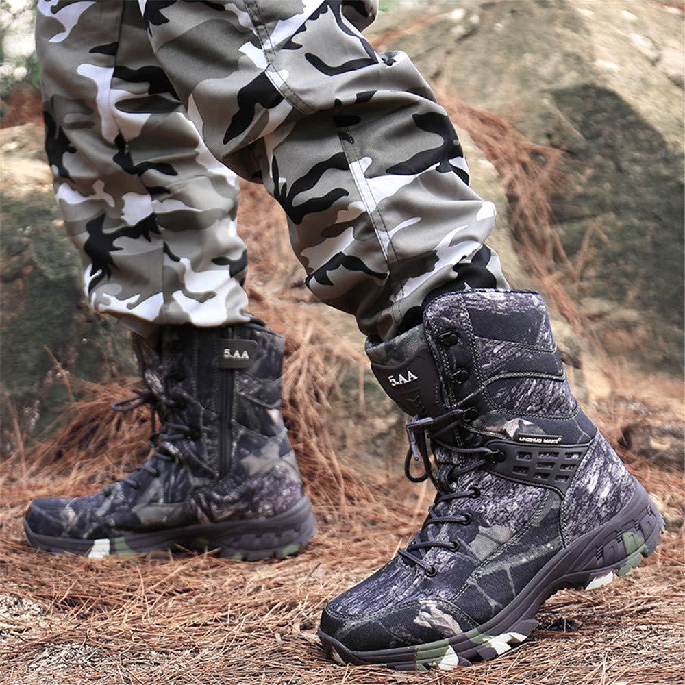 Impermeables Camuflaje Antideslizantes Botas Militares t/ácticas WOJIAO para Hombre Color Gris y marr/ón