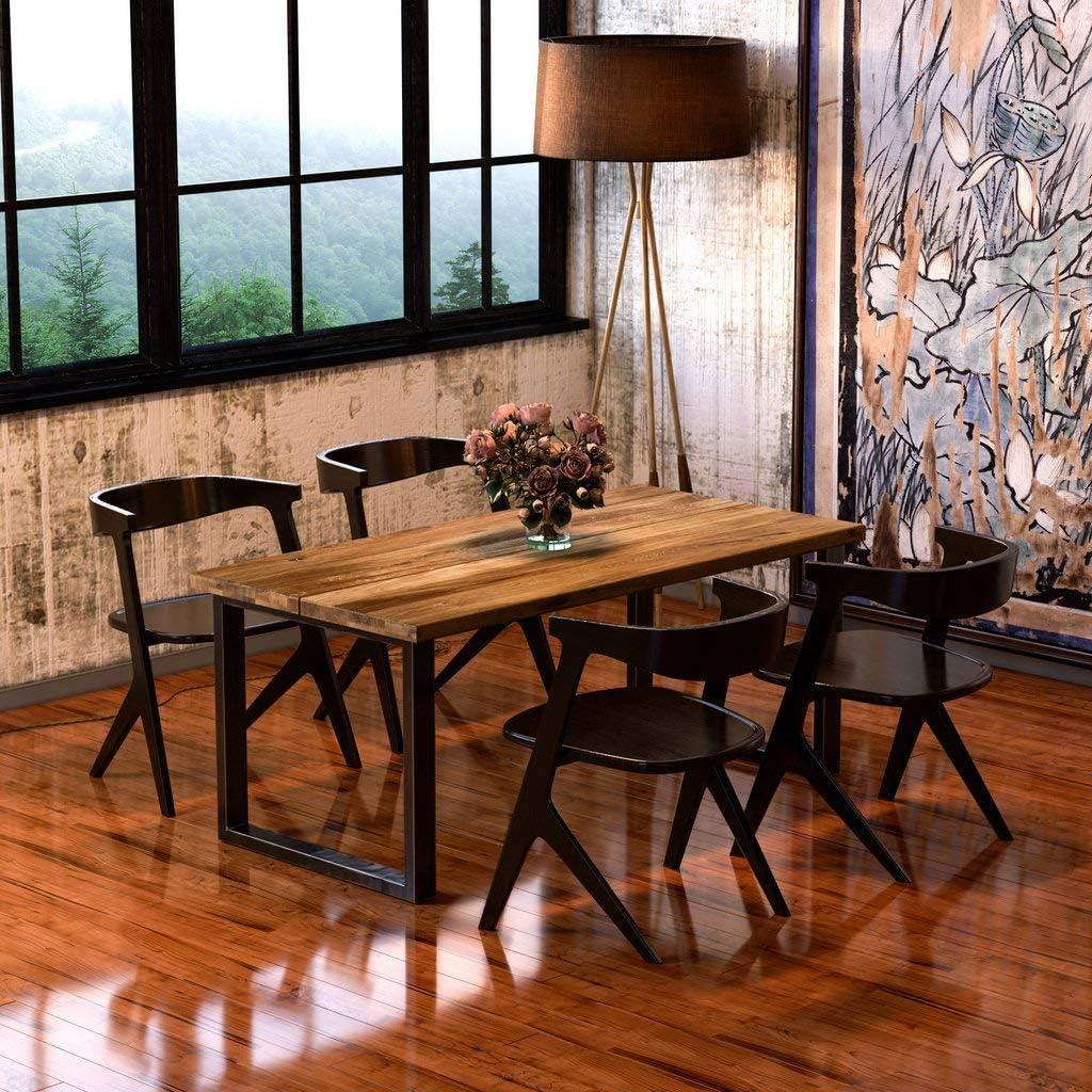 2 St/ück Paar 70x72cm, schwarz pulverbeschichtet schwarz Tischf/ü/ße BestLoft Kufen Tischkufen Industriedesign Tischgestell Tischuntergestell Tischkufe Kufengestell