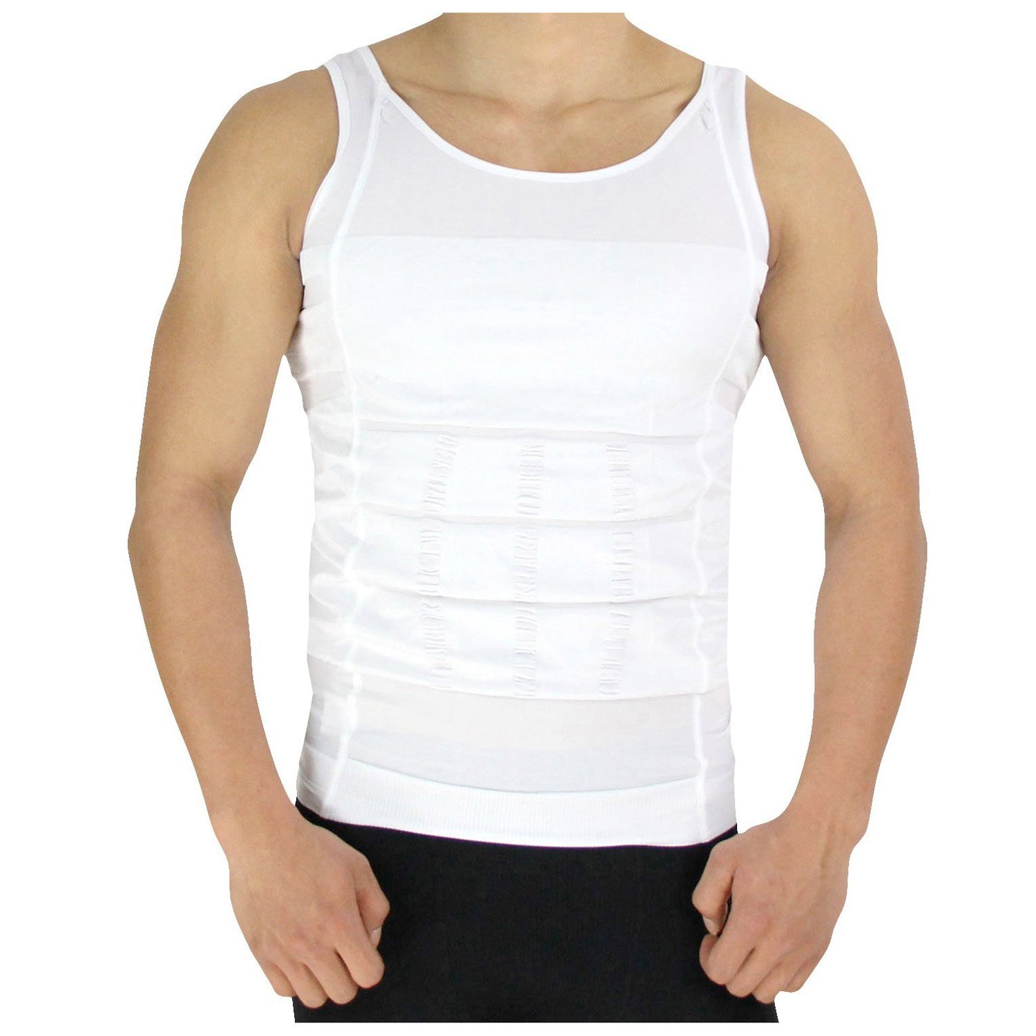 PU Health Slimming Tank Top Compression Shirt, Body Shaper Workout Tops Training Undershirts, 0.9 Pound