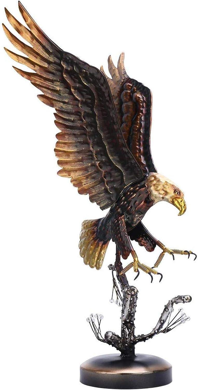 Escultura de águila calva con animales sin hierro, estatua de águila orgullosa Art Deco Decoración