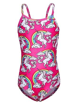 Traje de baño de Dos Piezas con diseño de Unicornio para niñas y ...