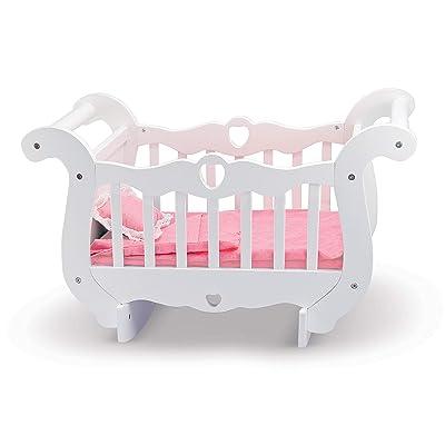 Melissa & Doug White Wooden Doll Crib With Bedding (30 x 18 x 16 inches): Melissa & Doug: Toys & Games