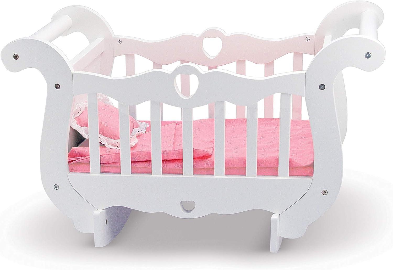 Amazon Com Melissa Doug Wooden Doll Crib Melissa Doug Toys Games