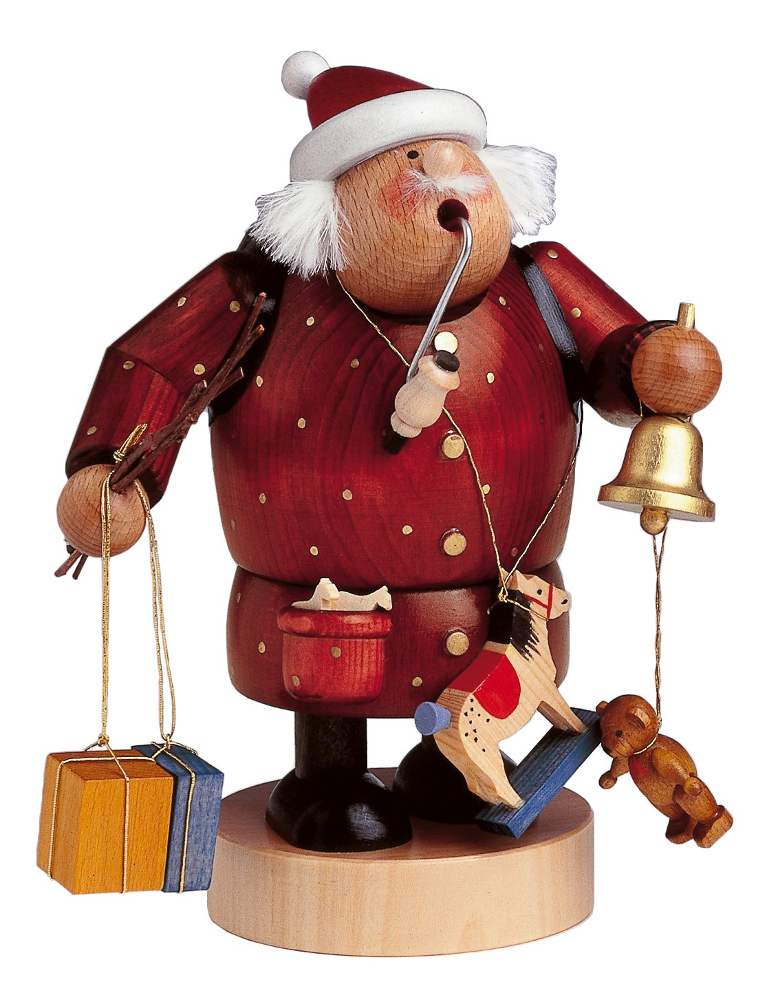 KWO Santa with Bell and Toys German Smoker 21511 by KWO