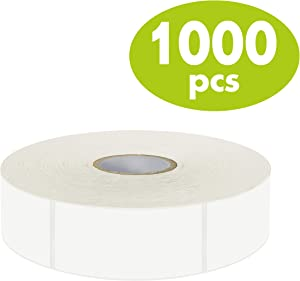 "1000 Blank Removable Freezer Labels Water Oil Resistant with Perforation Line for Food Containers Jars Pantry Organization (Each Measures 1"" x 2"")"