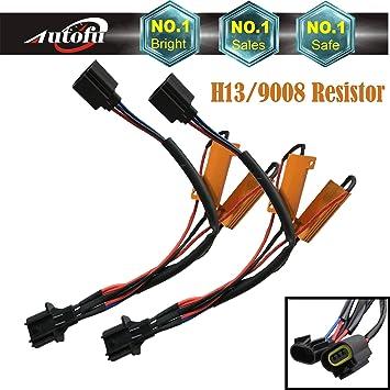 Amazon Pair Of H13 9008 HID LED Resistor