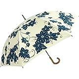 遮光・UVコーティング傘 (晴雨兼用 )[UV 百花涼藍] 鉄線花 JK-97