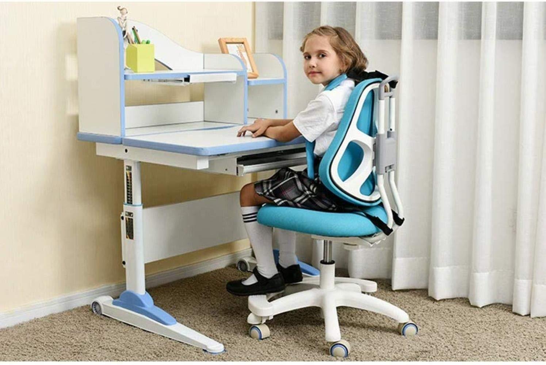 Xiuyun kontorsstol spelstol korrigerande stol justerbar studentstol hem baksida skriva sittande hållning korrigeringsstol barnstudiestol svängbar stol (färg: A) b