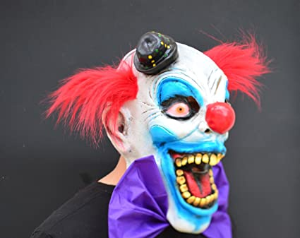 Creepy Evil Scary Halloween Clown Mask Rubber Latex CHOMPO CLOWN