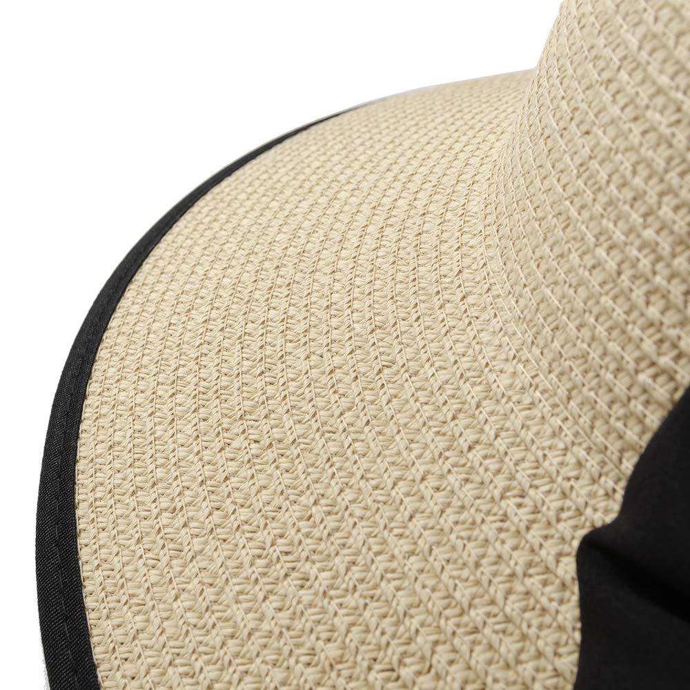 Foldable Wide Brim Hats with Bowknot UPF50 ZOORON Womens Floppy Summer Sun Beach Straw Hat