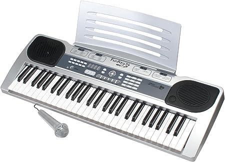 FunKey 54-MC - Teclado con atril y micrófono: Amazon.es ...