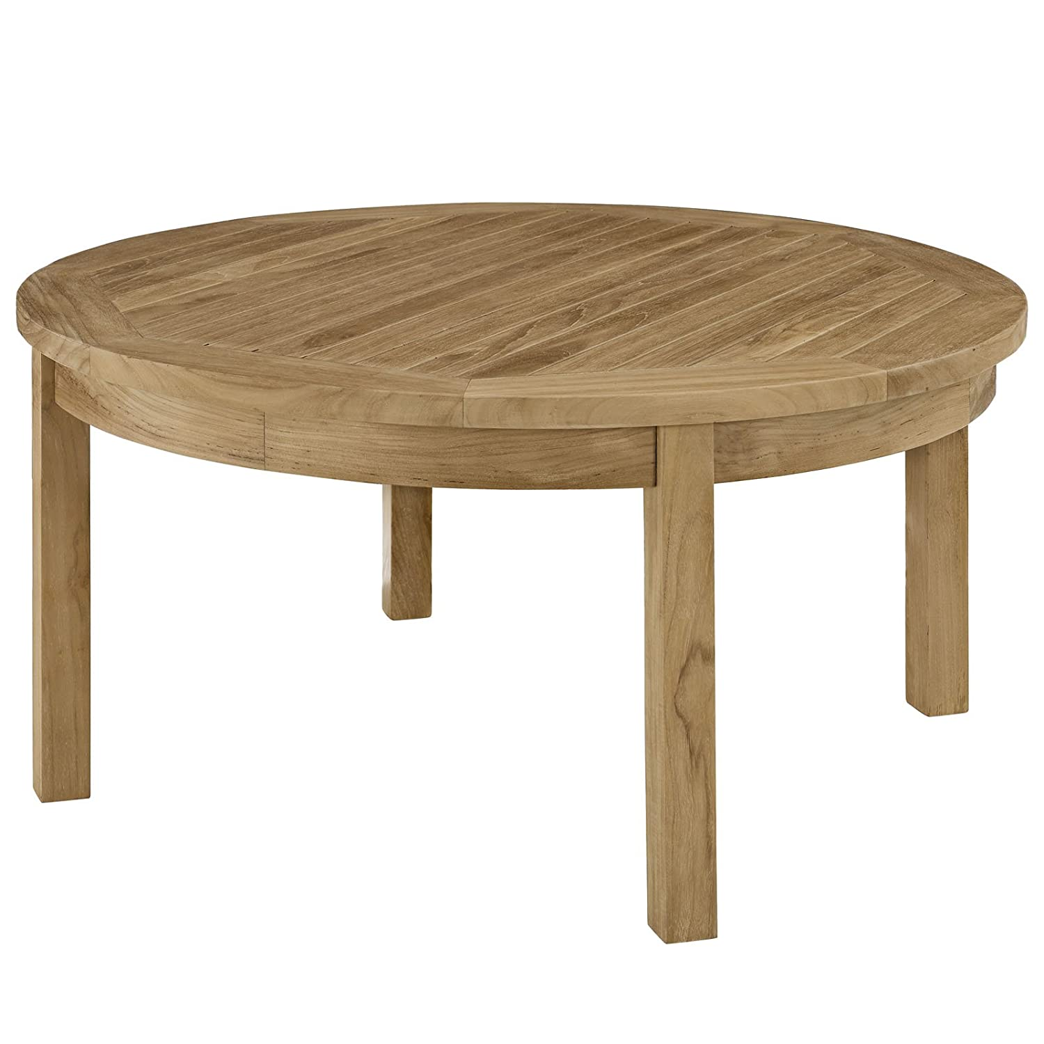 Amazon Modway Marina Outdoor Patio Teak Side Table Kitchen