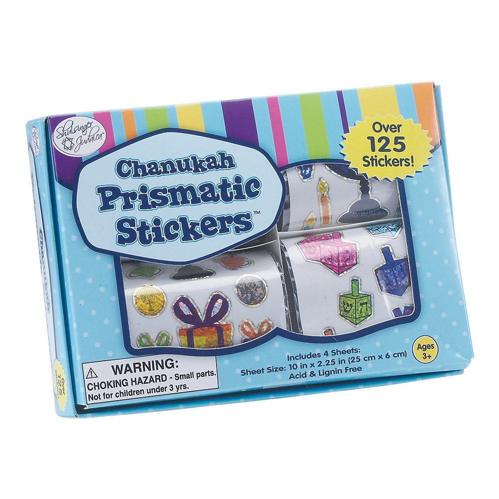 4 rolls Lite Judaica Happy Chanukah Stickers in a Box Rite Acid /& Lignin Free Rite Lite LTD TY-14352