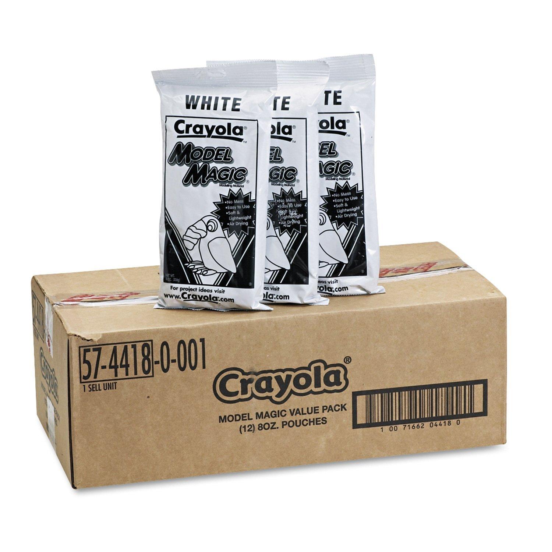 Crayola Model Magic Modeling Compound, 8 oz, White - 96 oz