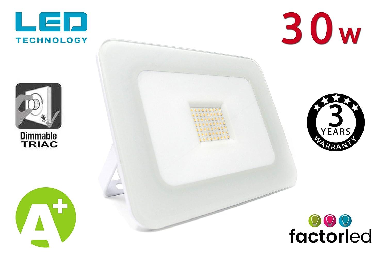 FactorLED Foco Proyector 30W LED Luxury Blanco, Iluminación ...