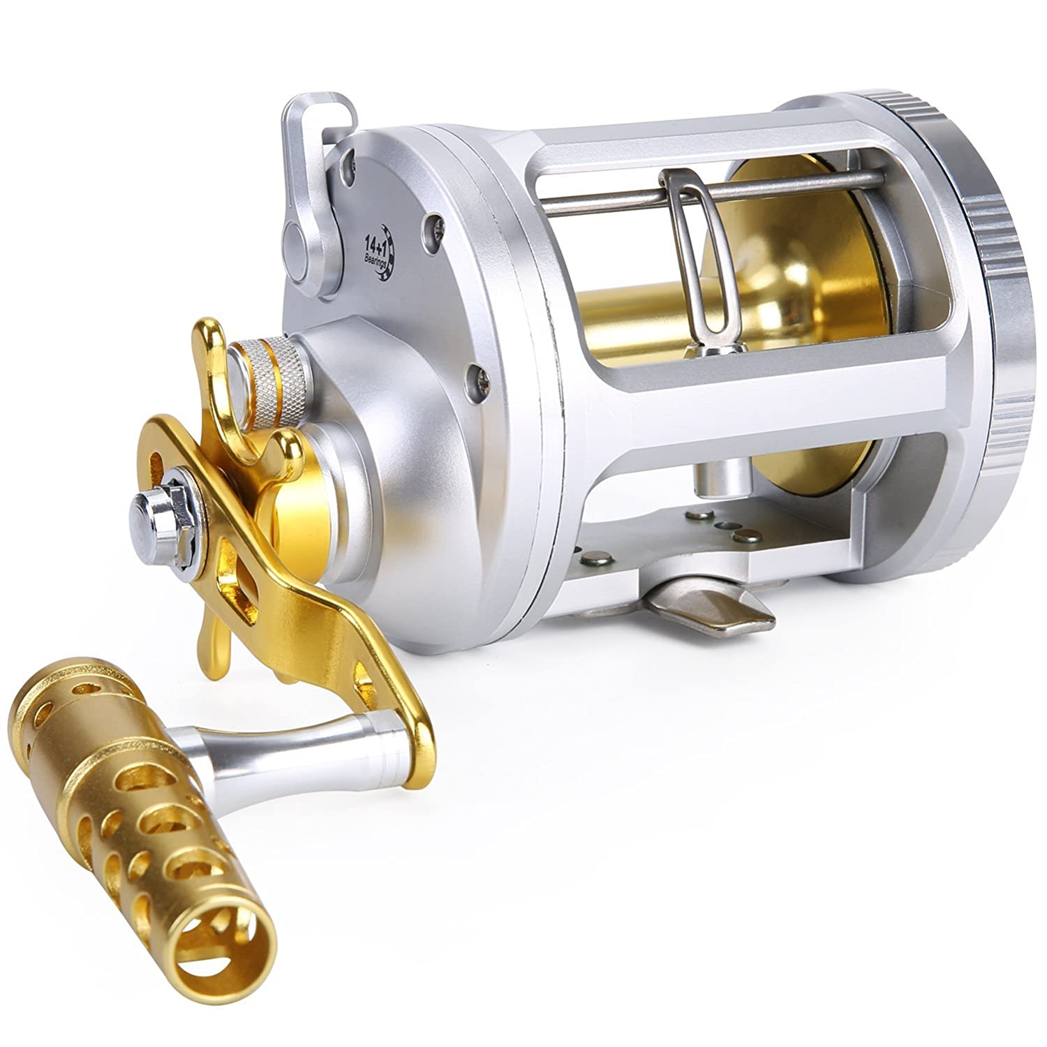 One Bass Level Wind Trolling Reel