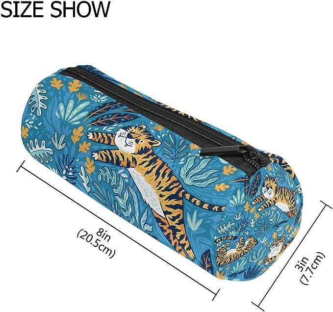 Tiger - Estuche para lápices, color azul: Amazon.es: Oficina y papelería
