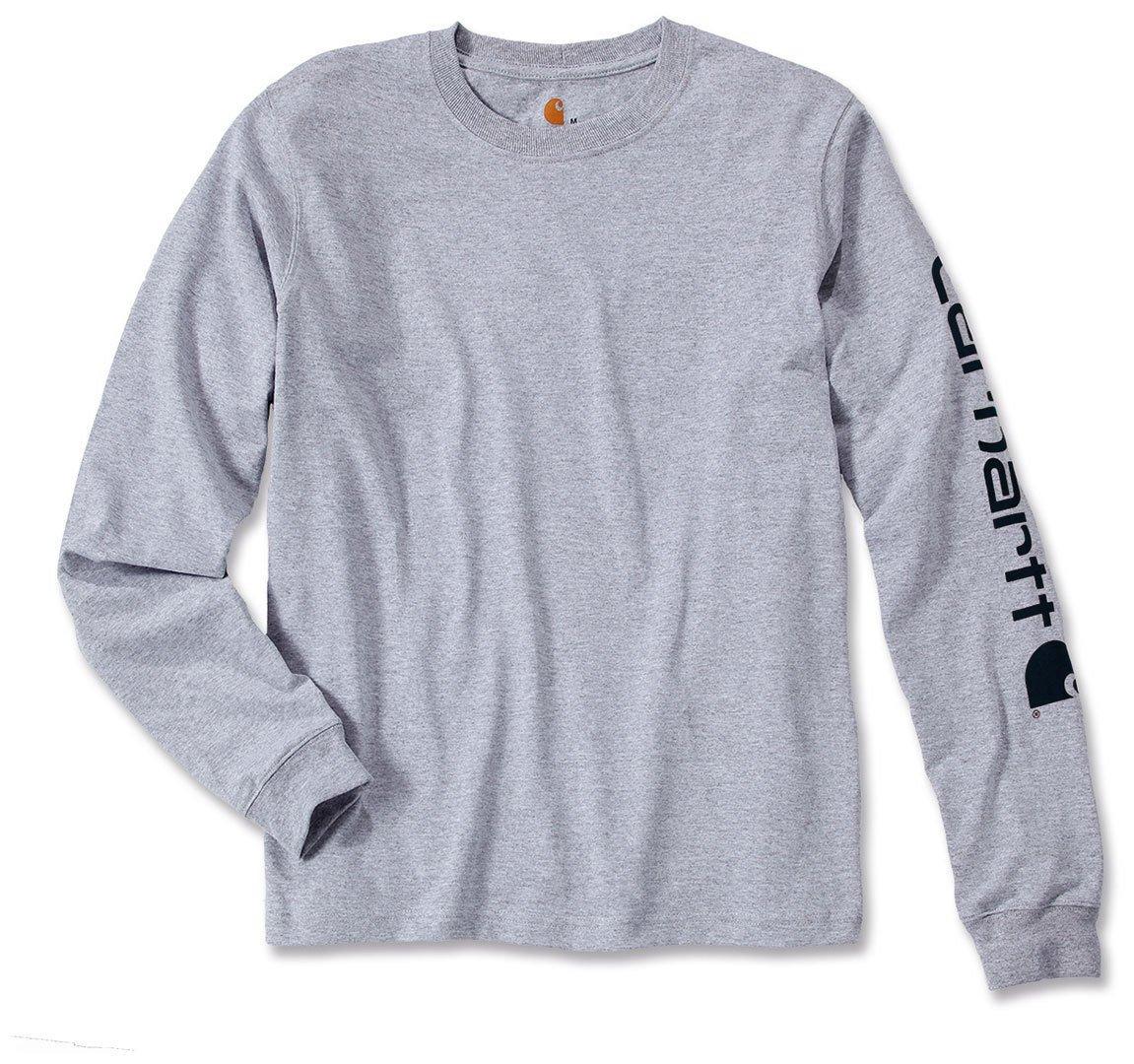 XX-Large Heather Grey Carhartt .EK231.HGY.S008 Sleeve Logo T-Shirt