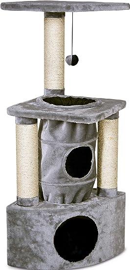 Karlie 1031284 Rascador Gato Midas, 38 x 38 x 105 cm 34792, Gris: Amazon.es: Productos para mascotas