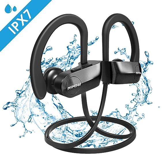 Mpow Auriculares Bluetooth IPX7, Inalámbricos In-Ear Cascos Deportivos con Micrófono Auricular Manos Libres