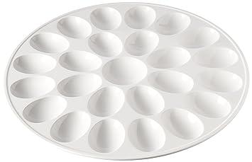 zak designs 12 inch white melamine egg tray deviled