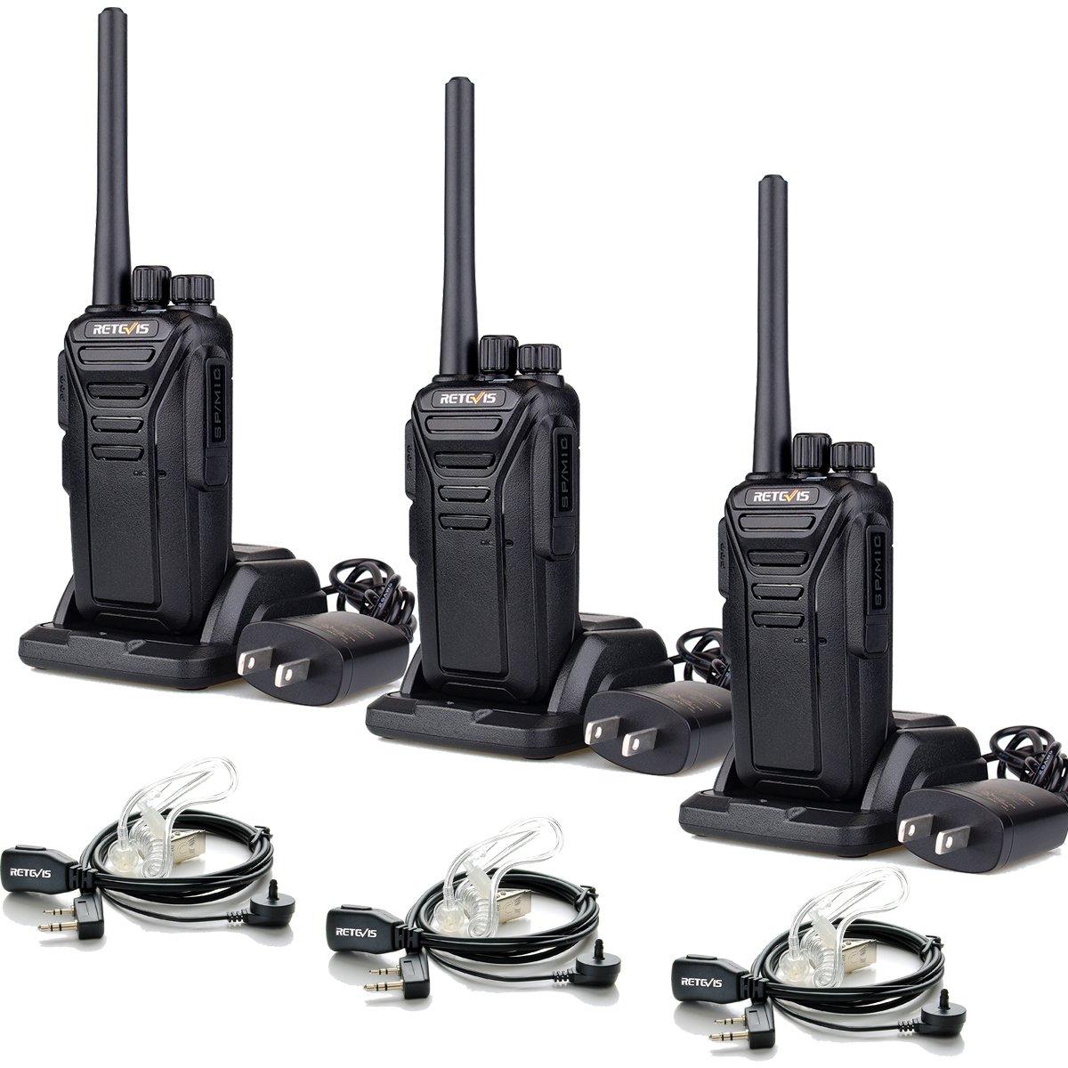 Retevis RT27 Walkie Talkies License-Free 2 Way Radios with Covert Air Acoustic Earpiece (3 Pack)