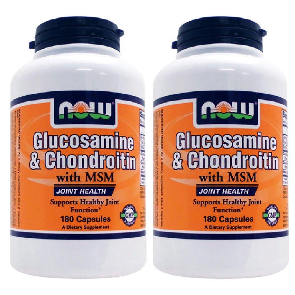 【3個セット】[ お得サイズ ] グルコサミン コンドロイチン + MSM 180粒[海外直送品] B01J7G44PO 3個  3個