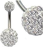 Bauchnabelpiercing Chirurgenstahl mit Swarovski-Kristallen in Geschenk-Box