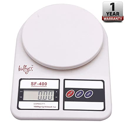 088bc5804 Image Unavailable. Image not available for. Colour  Bulfyss Electronic  Kitchen Digital Weighing Scale (10 Kg) ...