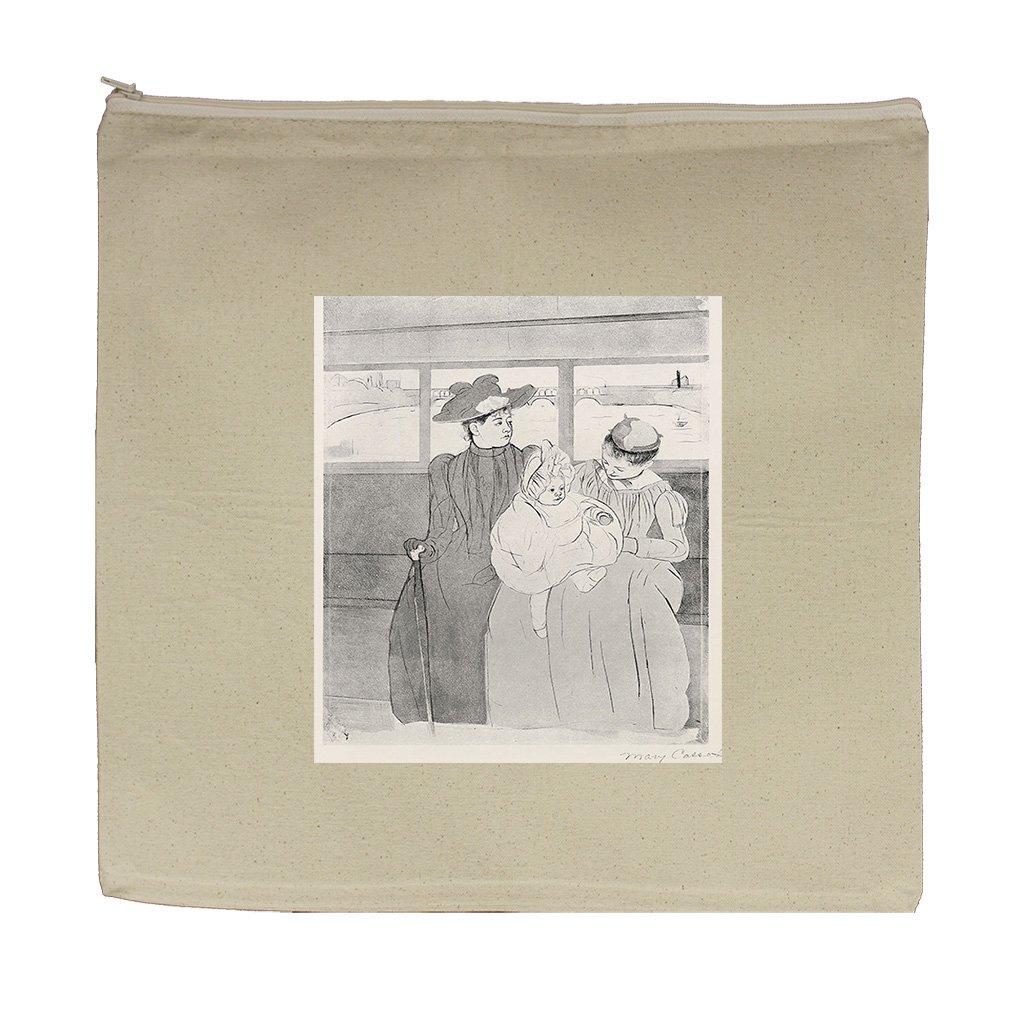 Sister Of Artist At A Window (Morisot) Canvas Zipper Tote Bag Makeup Bag
