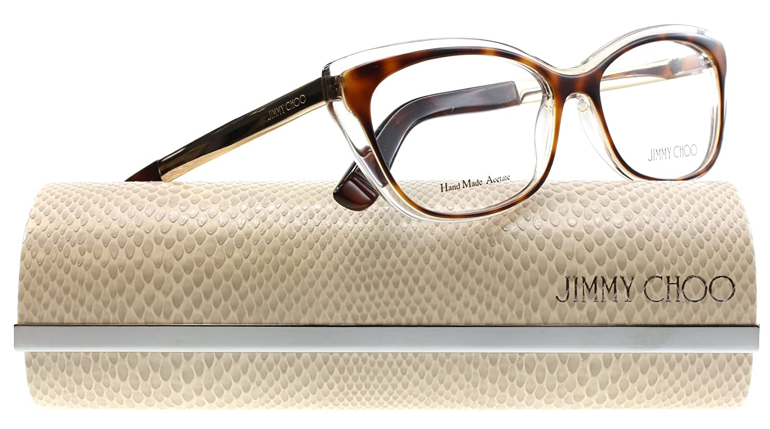 b419f879a588 Jimmy Choo 126 Eyeglasses Color 019W 00 at Amazon Women's Clothing store: