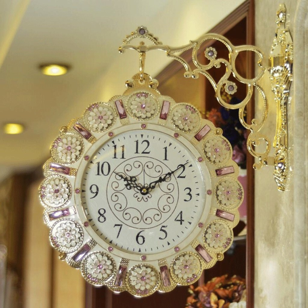 GAOLILI ファッションミュート両面時計リビングルーム創造的な二面の壁時計のベッドルームモダンパーソナリティクォーツ時計 ( サイズ さいず : 55cm*38cm(1.55KG) ) B07C3XBH3P 55cm*38cm(1.55KG) 55cm*38cm(1.55KG)