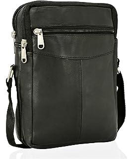 ce428e8e8efe Real Leather Man Bag Mens Ladies Unisex Shoulder Bag Cross Body Messenger  Bag Travel…