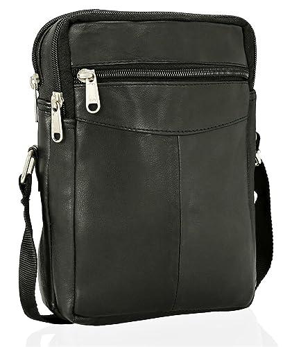 358f266cb649 Real Leather Man Bag Mens Ladies Unisex Shoulder Bag Cross Body Messenger  Bag Travel Holiday
